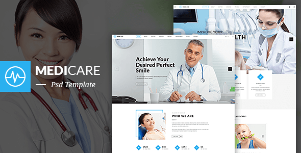 Medical PSD Website Templates