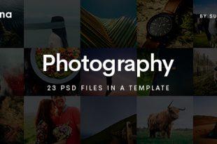 Photography PSD Website Templates