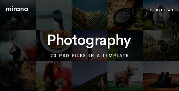 Photography PSD Website Templates