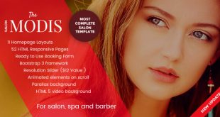 Spa Salon HTML Website Templates