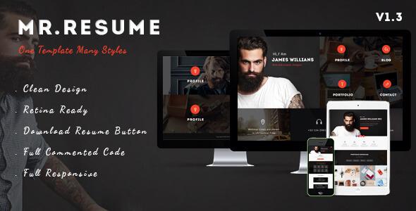 Resume PSD Website Templates