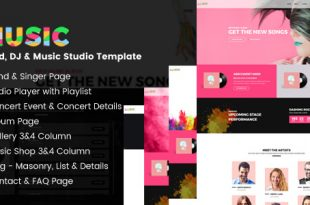 Music HTML Website Templates