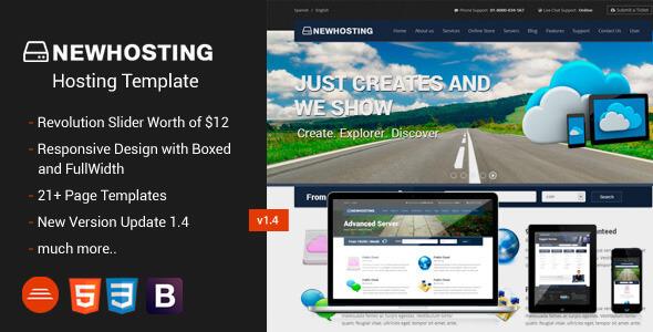 Hosting HTML Website Templates