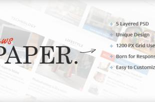 Newspaper PSD Website Templates