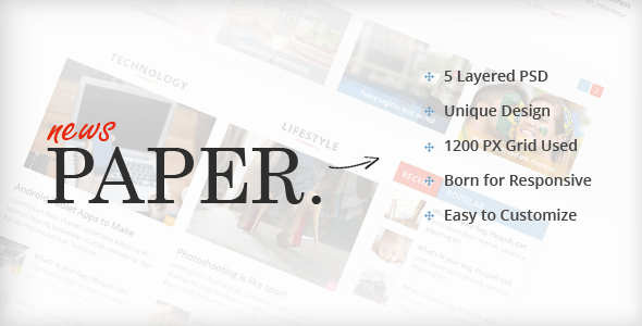 Newspaper PSD Website Templates