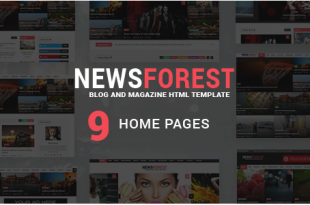 Newspaper HTML Website templates