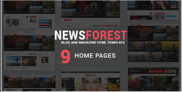 Newspaper HTML Website templates