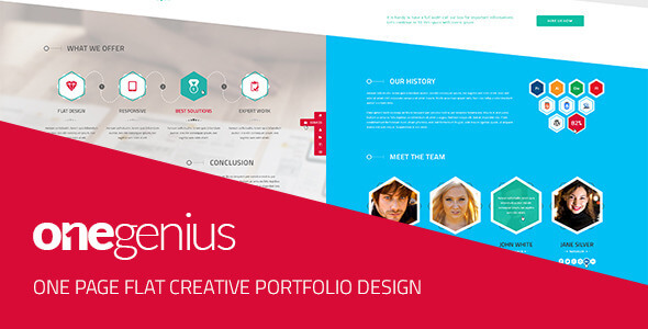 One Page PSD Website Templates