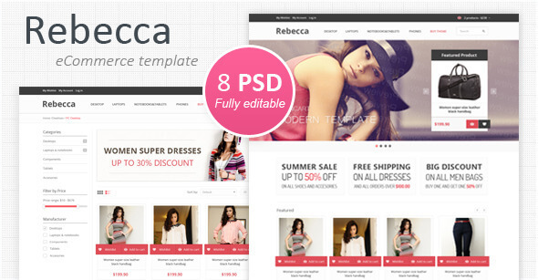Fashion PSD Website Templates