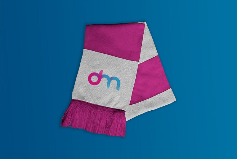 Scarf Mockup With Logo