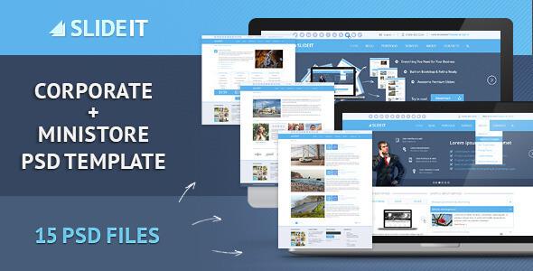 Corporate PSD Website Templates