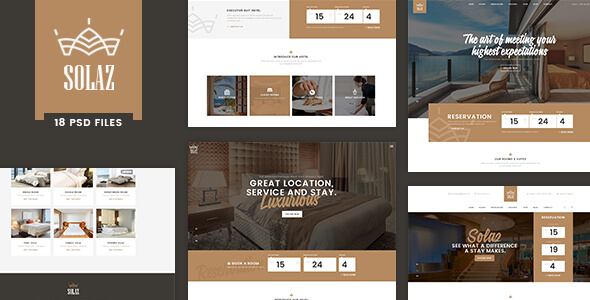 Hotel PSD Website Templates