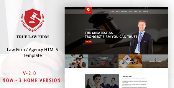 Lawyer HTML Website Templates
