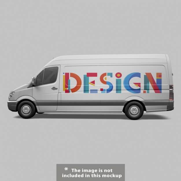 Van mock up design