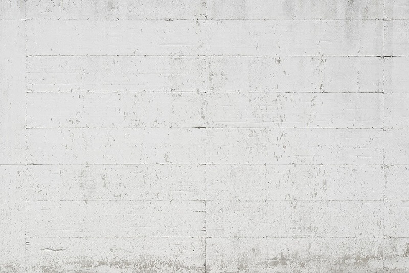 White painted concrete wall