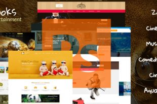 Entertainment PSD Website Templates