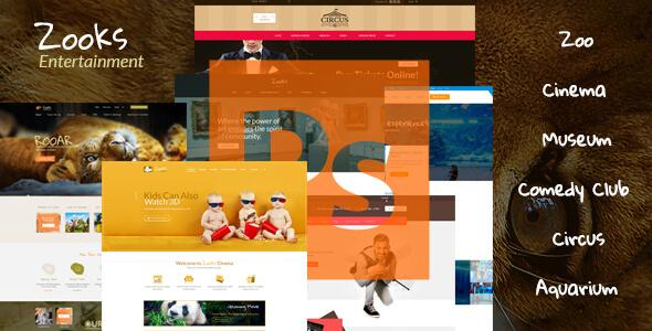 Entertainment PSD Website Templates