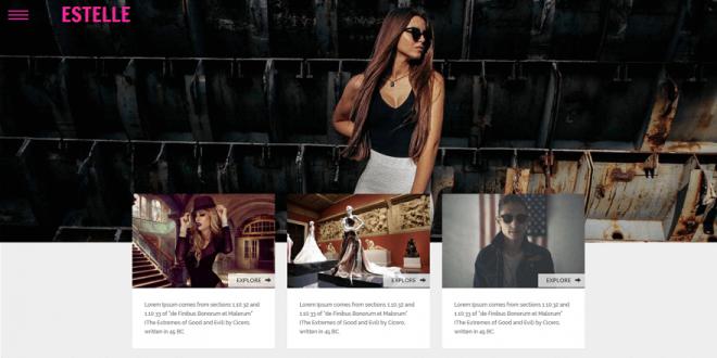 Free Fashion Html Website Templates