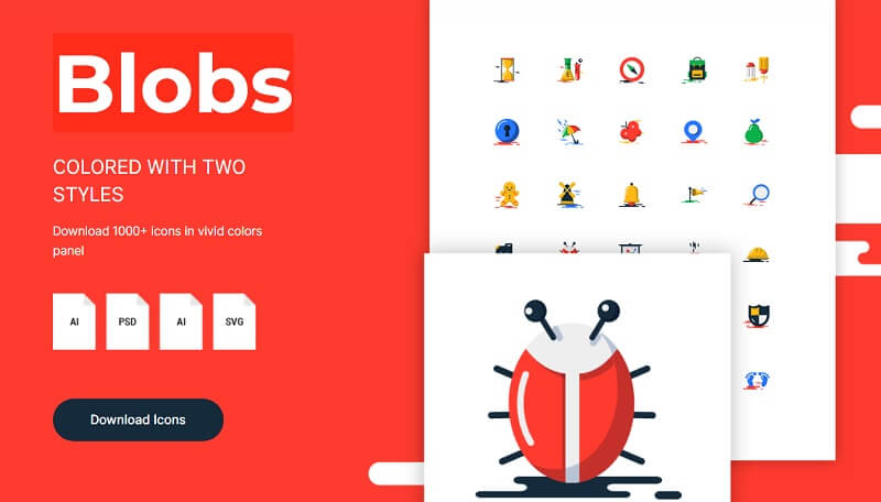 1,000 Blobs Flat Icons