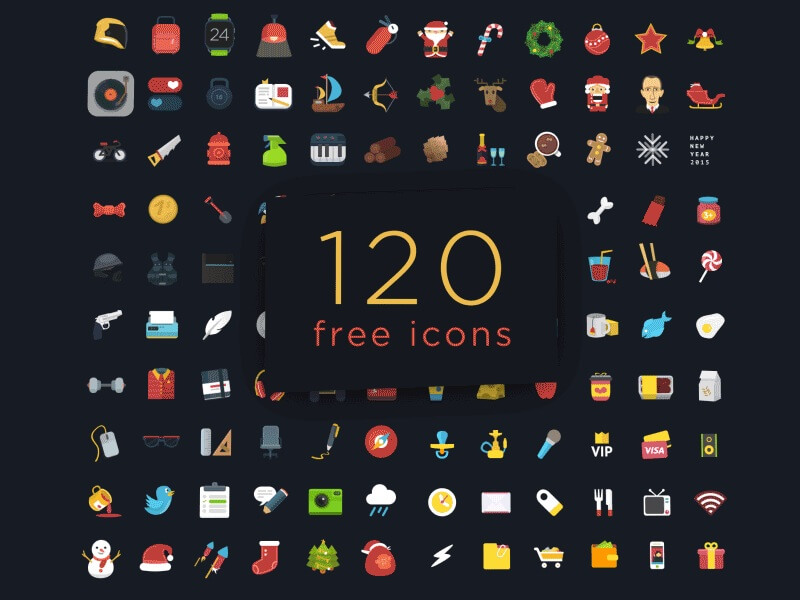 120 Colorful Ficons Icons