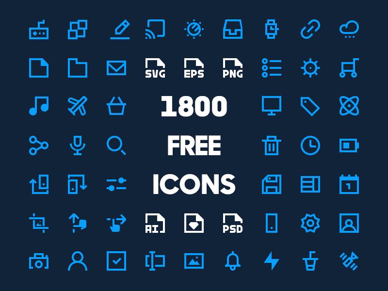1800 Minimal Icon Pack