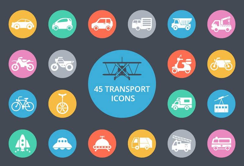 45 Transport Icons
