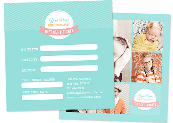 5×5 Gift Certificate Template