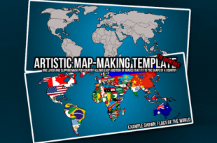 Free Map PSD Templates