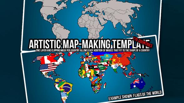 Free Map PSD Templates