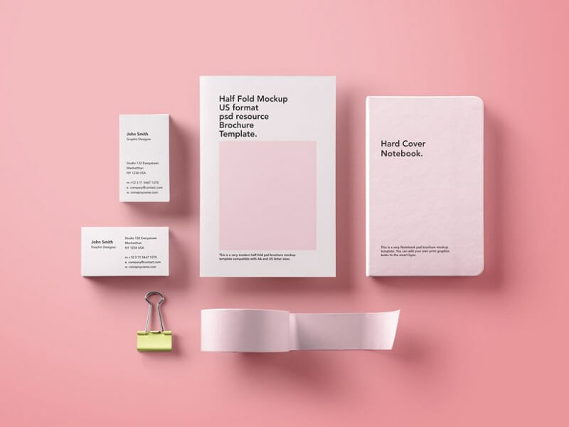 Basic Stationary Mockup Bundle