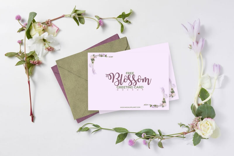 Beautiful Floral Blossom Greeting Card