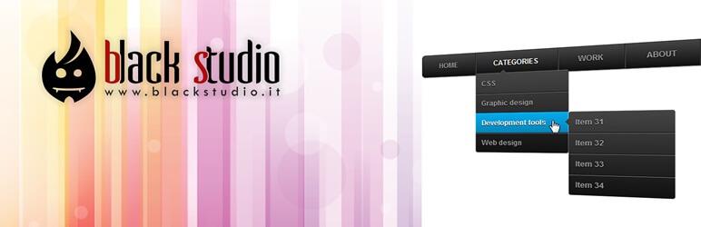 Black Studio Touch Dropdown Menu