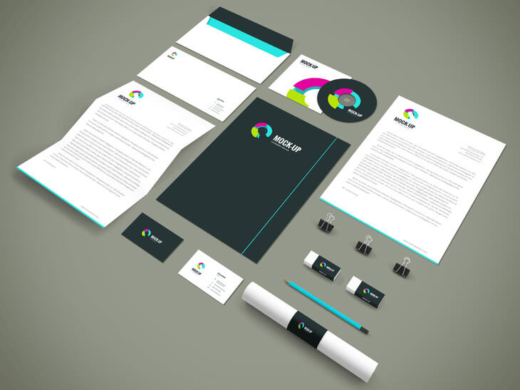 Branding stationery mockup 3