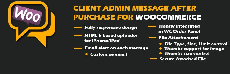 Client Admin Message After Purchase for WooCommerce