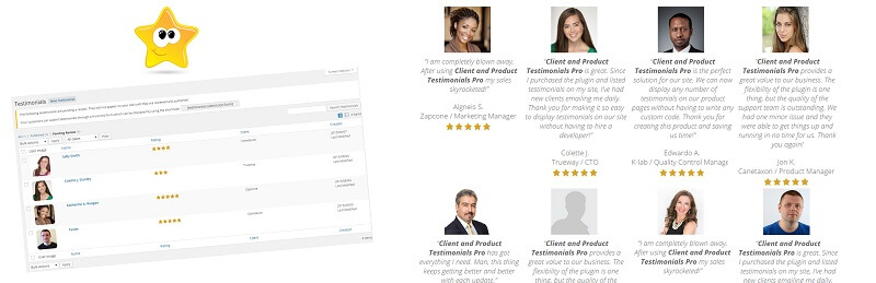 Client and Product Testimonials