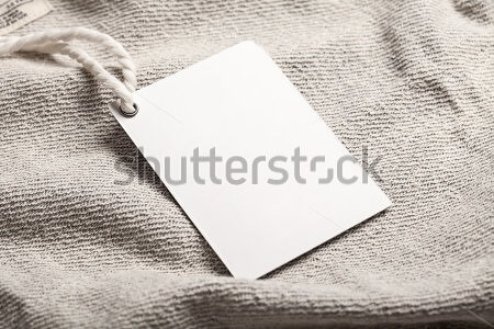 Cloth label tag blank white