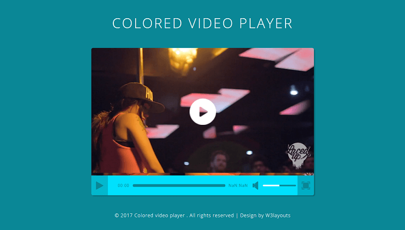 Colored Video Player