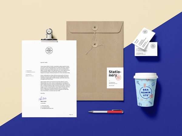 Customizable branding identity mockup