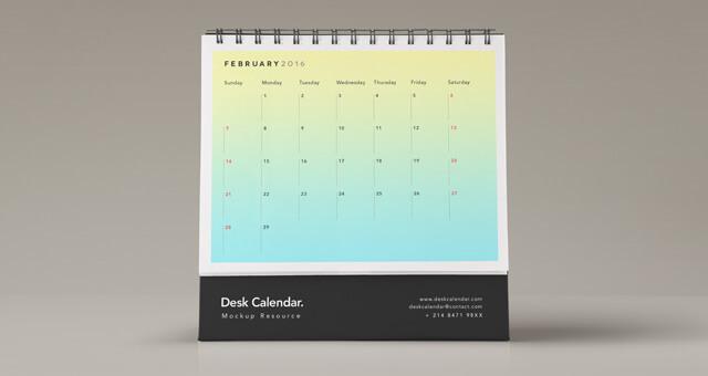 Desk Psd Calendar