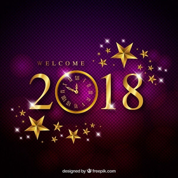 Elegant Purple New Year