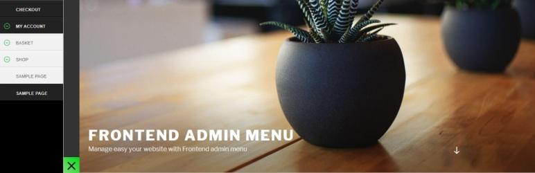 Frontend admin menu