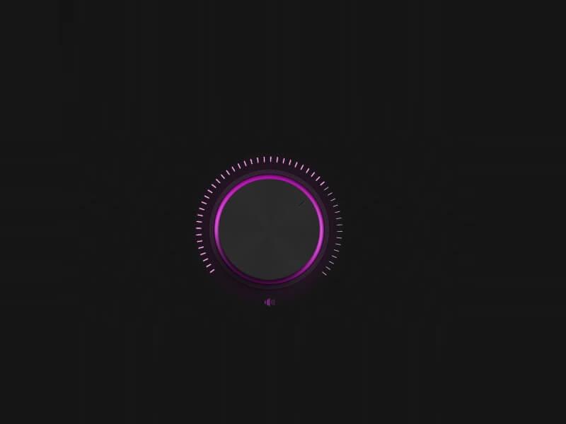 Neon volume knob