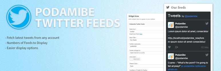 Podamibe Twitter Feed Widget
