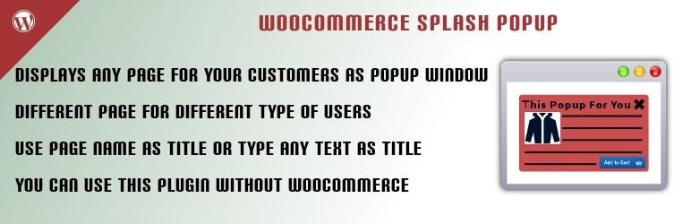 Splash Popup for WooCommerce