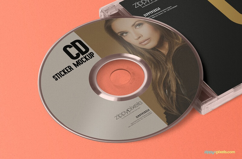 Stylish CD Jewel Case Label Sticker