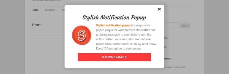 Stylish Notification Popup