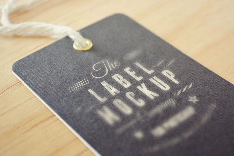 Tag Label Mockup