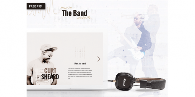 Free Music PSD Templates