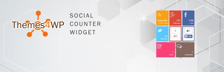 Themes4WP Social Counter Widget
