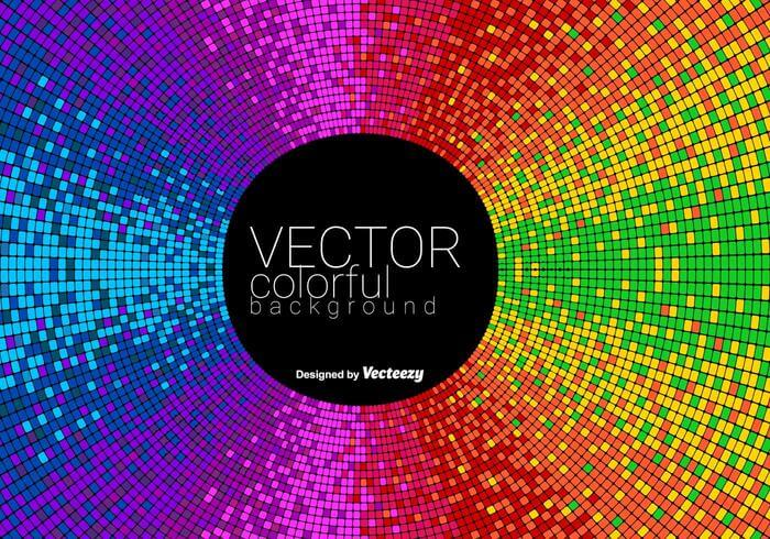 Vector Abstract Colorful Tiled